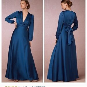 Jill Jill Stuart BHLDN Anthropologie blue gown